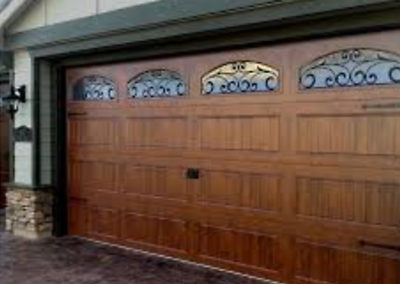 Albuquerque Wide Custom Garage Door with Glass Windows Install