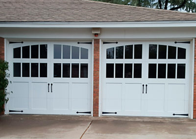 Double Custom Garage Doors Install