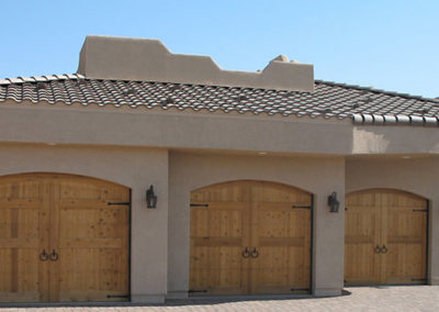 Albuquerque Stucco Home Custom Garage Door Install