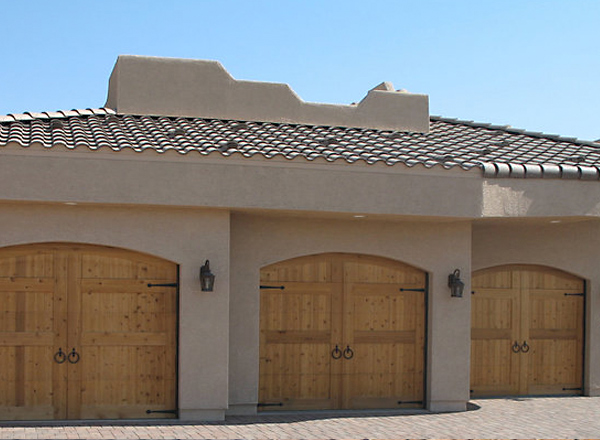 Stucco Home Custom Garage Door Install