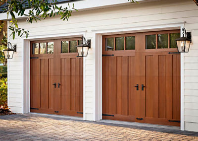 Albquerque Custom Double Wood Garage Door Install