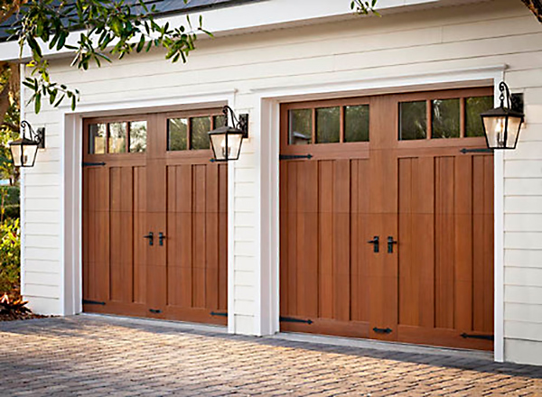 Custom Double Wood Garage Door Install