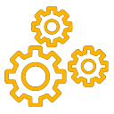 Gear icon yellow