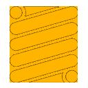 Spring icon yellow
